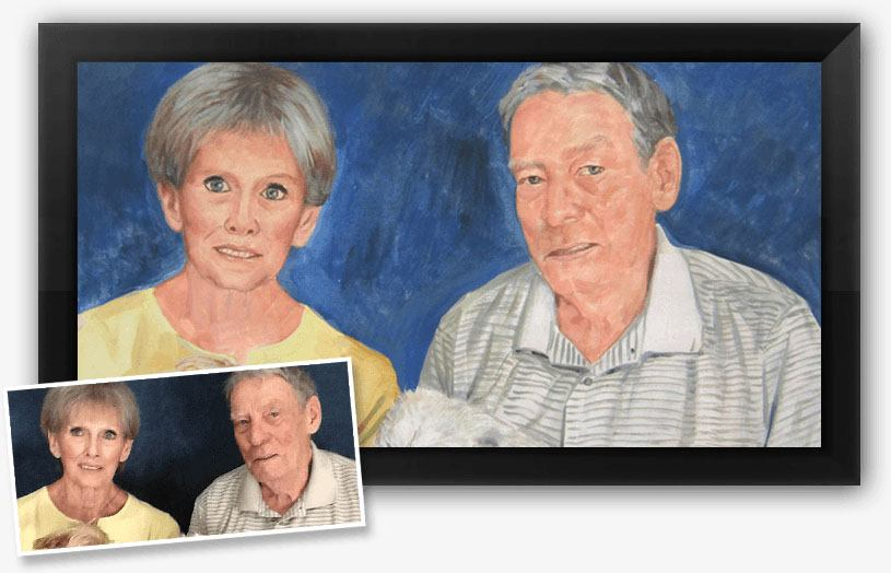 This is an example done by our pastel portrait artist