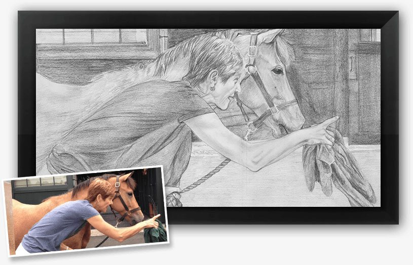 A perfect example of what a photo converted to pencil sketch looks like